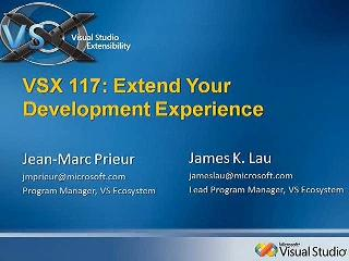 VSX: Extend Your Development Experience