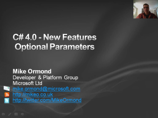 C# 4.0 New Features - Optional Parameters