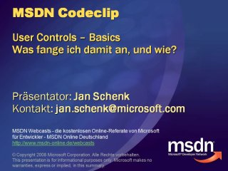"ASP.NET Codeclip - User Controls, oder ""Ade Includes""!"