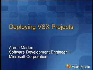 Deploying VSX Projects