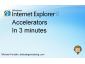 Screencast: IE8 Accelerators in 3 minutes