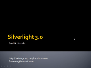 Silverlight 3 och .NET RIA Services