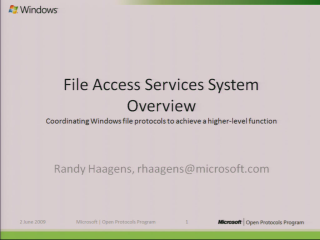 File Access Services Systems Overview Presentation
