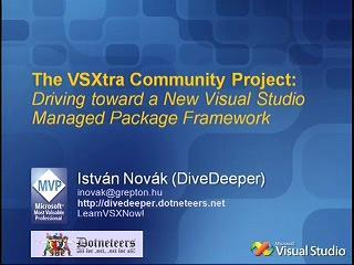 The VSXtra community project: Driving toward a new Visual Studio Managed Package Framework