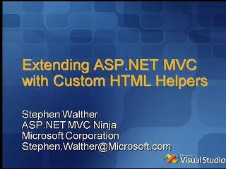 Extending ASP.NET MVC with Custom HTML Helpers