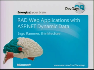Fastest To Market: RAD Web Applications with ASP.NET Dynamic Data and Entity Framework