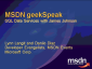 geekSpeak recording - SQL Data Services with James Johnson