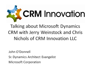 Dynamics CRM, Silverlight and more with CRM Innovation LLC