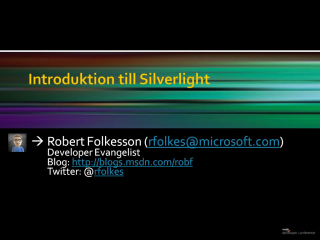 Introduktion till Silverlight