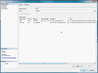 Demo SQL Server 2008 DW - Configure DW Storage
