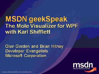 geekSpeak recording: The Mole Visualizer with Karl Shifflet