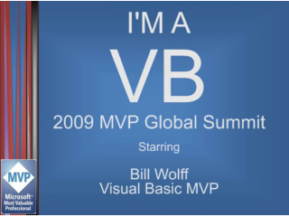 """I'm a VB"" Interview: Bill Wolff, Visual Basic MVP"