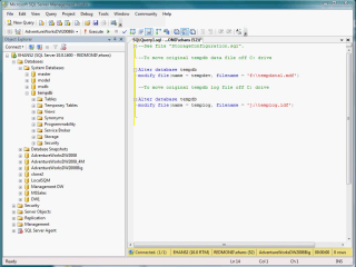 Demo SQL Server 2008 DW: Configuring tempdb for Data Warehouse
