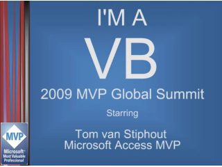 """I'm a VB"" Interview: Tom van Stiphout, Access MVP"