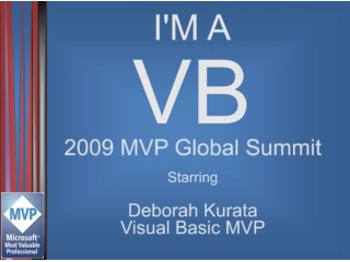 """I'm a VB"" Interview: Deborah Kurata, Visual Basic MVP"