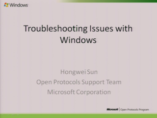 Troubleshooting Windows SMB/SMB2 Issues