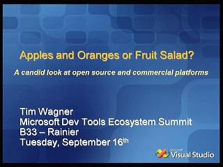 Apples and Oranges or Fruit Salad? A Look at Open Source Versus Commercial Platform Strategies