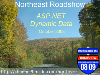 Northeast Roadshow - ASP.NET Dynamic Data
