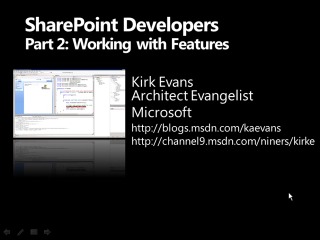 SharePoint for Developers Part 2: Working with Features