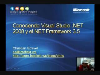 Introducción a Visual Studio 2008 (1 de 4)