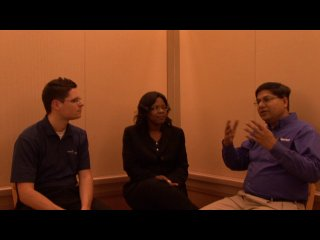 Sanjay Jain with Live@EDU experts from EduCAUSE 2008