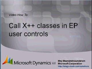 Microsoft Dynamics AX 2009 – Calling X++ classes in Enterprise Portal User Controls in C#