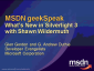 geekSpeak Recording - What's New in Silverlight 3 with Shawn Wildermuth
