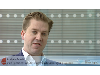Silverlight 3 UK Launch: Interview with Andrew Martin of Metia