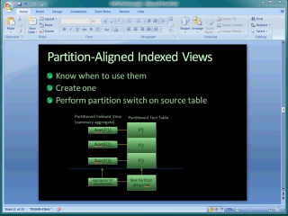Demo SQL Server 2008 Partition-aligned Indexed Views