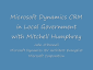 Local Government and Microsoft Dynamics CRM with Mitchell Humphrey