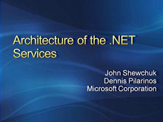 Architecture of the .NET Services