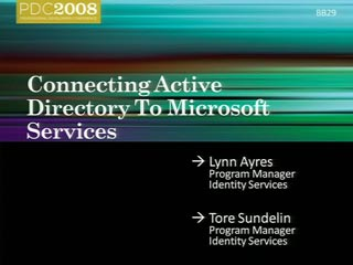 Identity: Connecting Active Directory to Microsoft Services