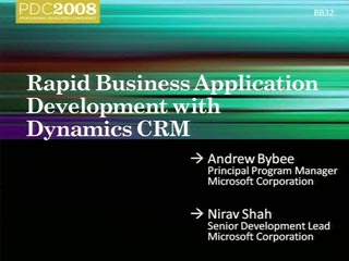 Microsoft Dynamics CRM: Building Line-of-Business Applications