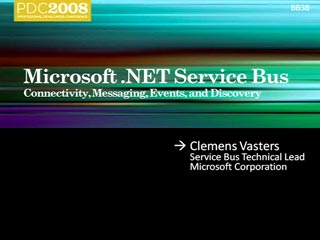 .NET Services: Connectivity, Messaging, Events, and Discovery with the Service Bus