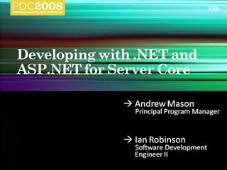 Developing with Microsoft .NET and ASP.NET for Server Core