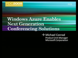 Showcase: Windows Azure Enables Live Meeting