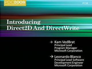 Windows 7: Introducing Direct2D and DirectWrite