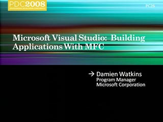 Microsoft Visual Studio: Building Applications with MFC