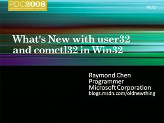 Deep Dive: What's New with user32 and comctl32 in Win32