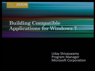 Developing compatible applications for Windows