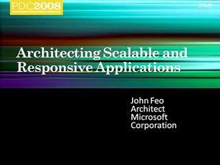 Parallel Symposium: Application Opportunities and Architectures
