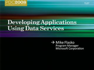 Developing Applications Using Data Services