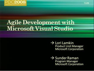 Agile Development with Microsoft Visual Studio