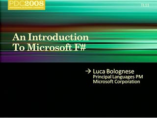 An Introduction to Microsoft F#