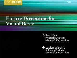 Future Directions for Microsoft Visual Basic