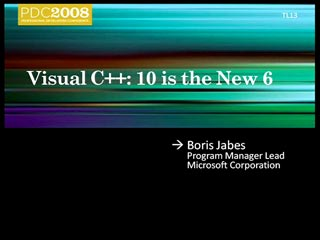 Microsoft Visual C++: 10 Is the New 6
