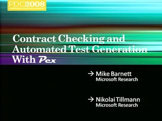 Research: Contract Checking and Automated Test Generation with Pex