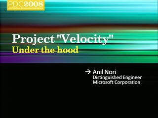 "Project ""Velocity"": Under the Hood"