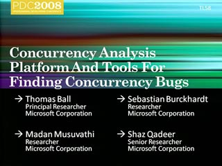 Research: Concurrency Analysis Platform and Tools for Finding Concurrency Bugs