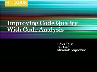 Improving Code Quality with Code Analysis